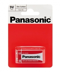 Батарейка 6F22 сольова Panasonic Red Zinc 6F22RZ/1BP, Крона, блістер