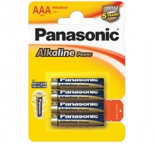 Батарейка LR3 лужна Panasonic Alkaline Power LR03APB / 4BP, AAA