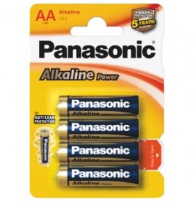 Батарейка LR6 лужна Panasonic Alkaline Power LR6APB / 4BP, AA