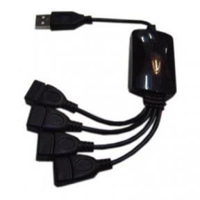 Хаб-юсб 2.0 Lapara LA-UH803-A 4 порта черный