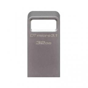 USB3.1 Flash Drive 32 Gb Kingston DTMicro USB Metal Silver (DTMC3