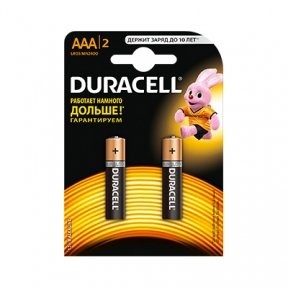 Батарейка LR3 лужна Duracell, 2 шт. блистер