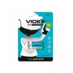 Батарейка CR123 Videx літієва (CR123A) BLISTER CARD (20/200) 1шт