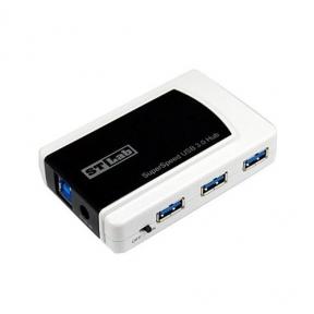 Хаб-юсб 3.0 STLab U-870, 7 ports с блоком питания черный с белым