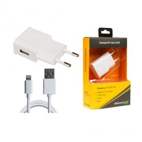 Зарядний пристрій USB 220В Grand-X USB 5V 1A (CH-765LTW) White