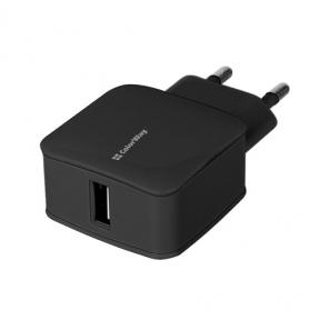 Зарядний пристрій USB 220В Colorway 1USB 1A чорний (CW-CHS001-BK