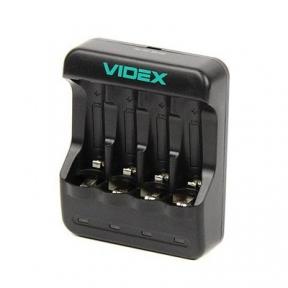 Зарядний пристрій Videx VCH-N400, 4 канала; Ni-MH/Cd (АА, AАА
