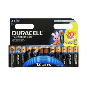 Батарейка LR6 лужна Duracell, упаковка 12шт