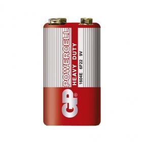 Батарейка 6F22 сольова GP Power Cell, 1604E, червона, шрінк