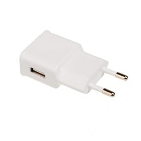Зарядний пристрій USB 220В Grand-X 5V 2.1A (CH-03) БЕЛЫЙ, c захистом