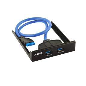 Хаб USB Maiwo KC010  перед.панель 3,5