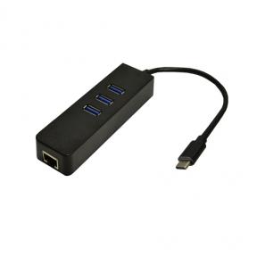 Хаб-юсб Dynamode USB 3.1 Type-C - RJ45 Gigabit Lan, 3*USB 3.0-порта