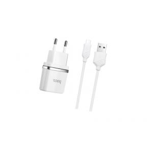 Зарядний пристрій USB 220В Hoco C11 с Lightning USB (1USB, 1А