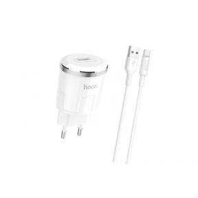 Зарядний пристрій USB 220В Hoco C37A Thunder c Micro (EU) (1USB