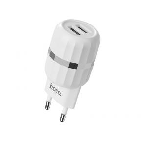 Зарядний пристрій USB 220В Hoco C41A Wisdom c Lightning EU (2USB 2