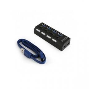 Хаб-юсб 3.0 Gembird UHB-U3P4-22 на 4 порти USB 3.0 адаптер живлення