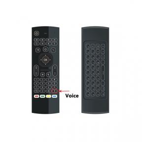 Пульт Гіроскопічна миша + клавіатура RU (Airmouse) MX3 Voice Led