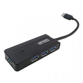 Хаб-юсб 3.0 STLab U-930, 4 порта пластик с блоком питания 2А