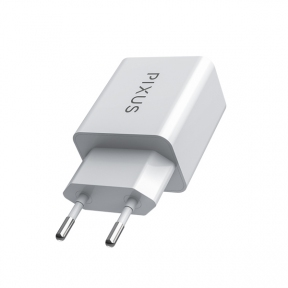 Зарядний пристрій USB 220В Pixus USB 220 DC 5V – 2A One (White
