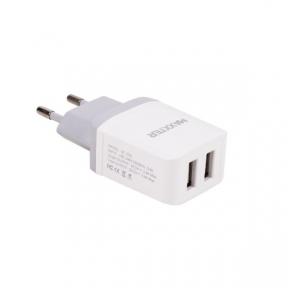 Зарядний пристрій USB 220В Maxxter UC-25A, 2 USB, 5V/2.4A