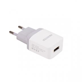 Зарядний пристрій USB 220В Maxxter UC-24A, 1 USB, 5V/2.1A