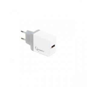 Зарядний пристрій USB 220В Gembird MP3A-UC-AC11 1 USB (быстрая зарядка Qualcomm 3