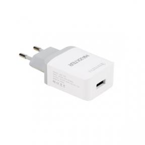 Зарядний пристрій USB 220В Maxxter UQC-22A 1 USB (швидка зарядка Qualcomm) 5V