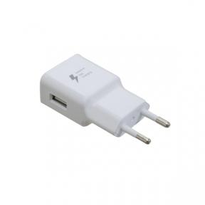 Зарядний пристрій USB 220В PATRON, 1 x USB 2.0 2A WHITE (PN-1USB