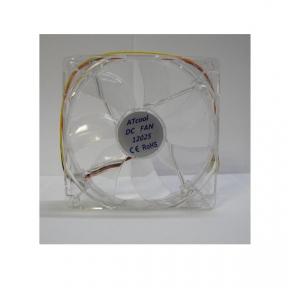 Вентилятор 120 mm ATcool 12025 LED red, 3pin,  розміри 120*120*25мм