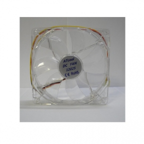 Вентилятор 120 mm ATcool 12025 LED green, 3pin,  розміри 120*120*25мм
