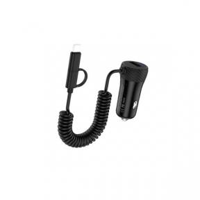 Автомобільний зарядний пристрій Hoco Z21A c Lightning USB (1USB
