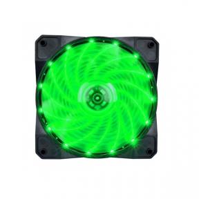 Вентилятор 120 mm 1stPlayer A1-15LED Green bulk; 120х120х25мм