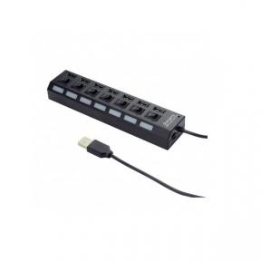 Хаб-юсб 2.0 Gembird UHB-U2P7-03 на 7 портів USB 2.0 Адаптер живлення: 5 В