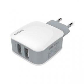 Зарядний пристрій USB 220В Baseus Wall Charger 2xUSB Letour 2