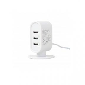 Зарядний пристрій USB 220В EnerGenie EG-U3C3A-01-MX настольное