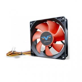 Вентилятор 80 mm Frime FRF80HB3, 3 Pin, Black/Red, 80x80x25мм