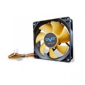 Вентилятор 80 mm Frime FYF80HB3, 3Pin, Black/Yellow, 80x80x25мм