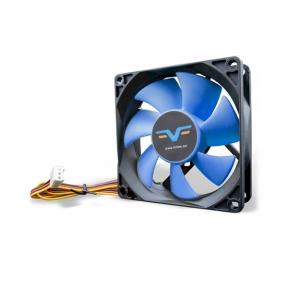 Вентилятор 80 mm Frime FBF80HB3, 3Pin, Black/Blue, 80x80x25мм