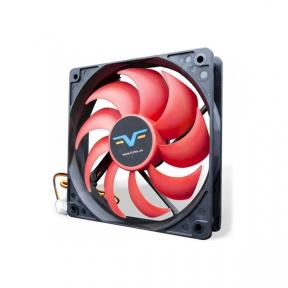 Вентилятор 120 mm Frime FRF120HB3, 3Pin, Black/Red, 120x120x25мм