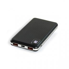 Зовнішній акумулятор (Power Bank) HQ-Tech 5508QC Black, 10000mAh LiPo