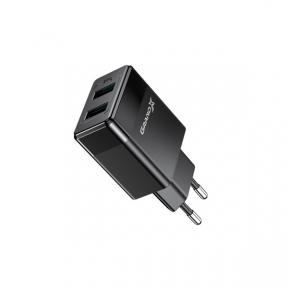 Зарядний пристрій USB 220В Grand-X 5V 2,1A (CH-50) 2USB із захистом