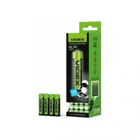 Батарейка LR3 лужна Videx, AAA 4шт SHRINK