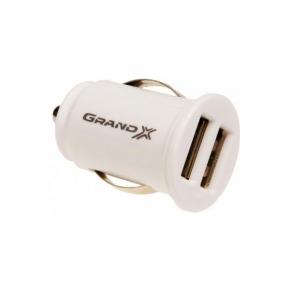 Автомобільний зарядний пристрій Grand-X CH02WC, 2.1A 12-24V, 2 USB 5V