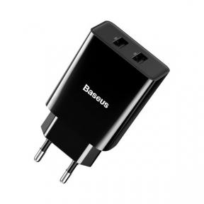 Зарядний пристрій USB 220В Baseus Speed Mini Dual U Charger 10