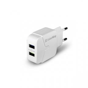 Зарядний пристрій USB 220В Colorway 1USB 1A білий (CW-CHS011-WT