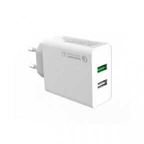 Зарядний пристрій USB 220В Colorway 2USB (QC3.0 + 2.4A AUTO ID) (
