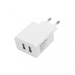 Зарядний пристрій USB 220В Colorway 2USB AUTO ID 2.1A (10W) білий (