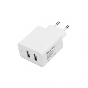 Зарядний пристрій USB 220В Colorway 2USB AUTO ID 4.8A (24W) белое (