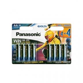 Батарейка LR6 лужна Panasonic Evolta LR6EGE/8BW 4+4F Power Rangers