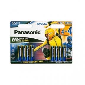 Батарейка LR3 лужна Panasonic Evolta LR03EGE / 8BW 4 + 4F Power Rangers